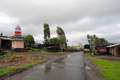 Monsoon roads to Chinmaya Vibhooti, Kolwan, Maharashtra (MH), India