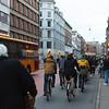 Radweg in Kopenhagen zur Rush Hour