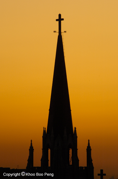 Silhoutte of a church tower