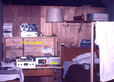 Harry's room, a typical Lt.'s quarters, about 10 sq ft.