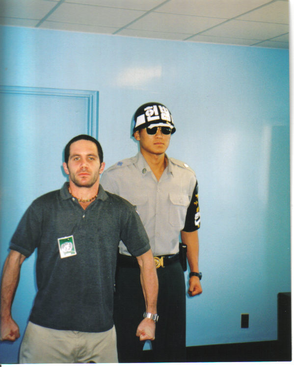 On the DMZ - if only he weren't gurading the door, I could have sought freedom in the North.