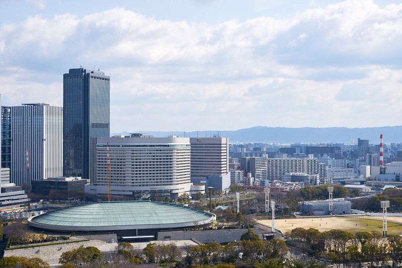 View from Osaka Castle, Osaka, Japan