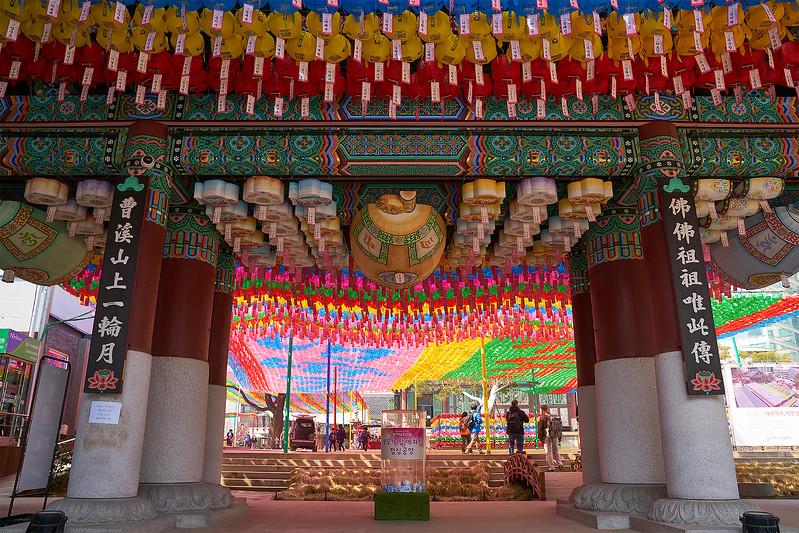 Jogye Temple (조계사) with paper lanterns for Buddha's Birthday celebration