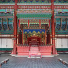 The royal throne at  Gyeongbok Palace (경복궁).