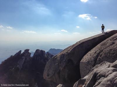 Peaks of Bukhansan National Park seen from Baegundae Peak