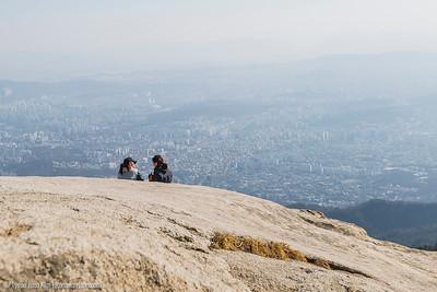 Baegundae Peak and Seoul