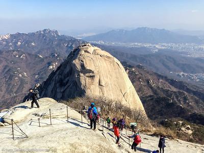 Insubong Peak seen from Baegundae Peak