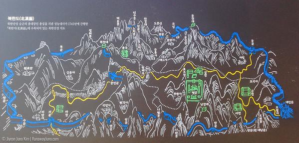 Old map of Bukhansan