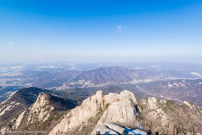 View of Seoul from Baegundae Peak