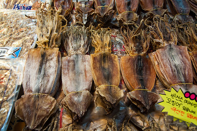 Dried squid at Jagalchi Sijang (Jagalchi Market)