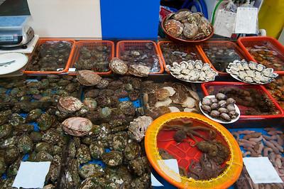 seafood at Jagalchi Sijang (Jagalchi Market)