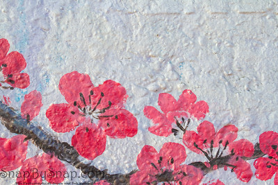 Abstract cherry blossoms in spring bloom