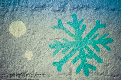 Abstract snowfall painted in cool tone colors
