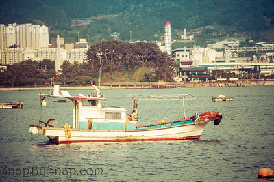 An old traditional Korean fishing boat