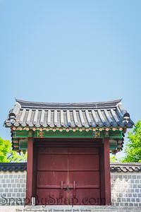 Korean Gate with Copy Space