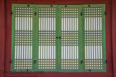 Traditional Korean Wooden Windows Frame
