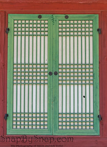 Traditional Korean Wooden Windows Frame