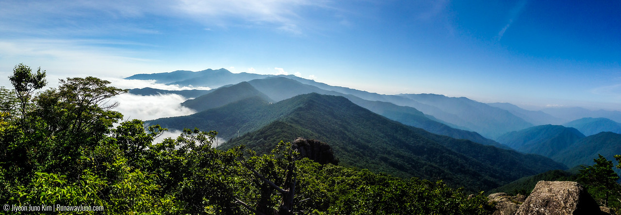 The view of Jirisan National Park