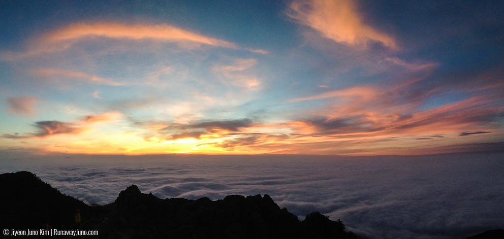 Sunrise from Cheonwangbong Peak
