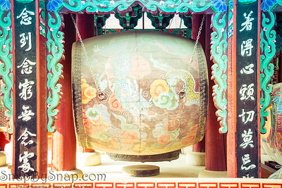 Buddhist Drum with Dragon