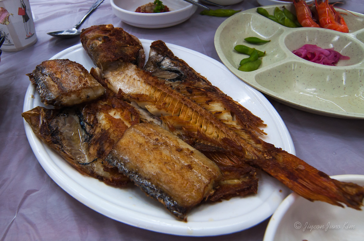 Grilled fish at Jagalchi Sijang (Jagalchi Market)