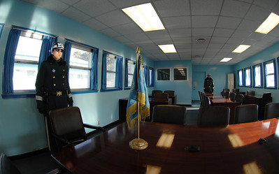 Joint Security Area - Panmunjom: ROK soldiers inside the Military Armistice Commission
