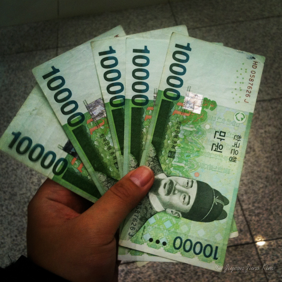 Korean money - 10,000 won