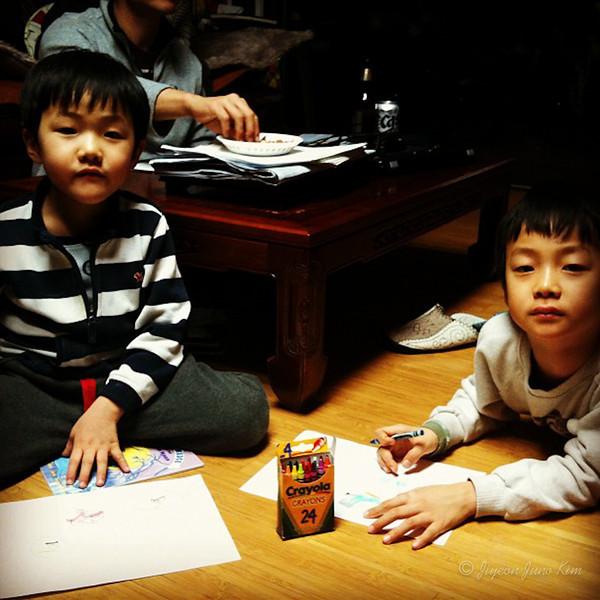 Crayola party with my nephews