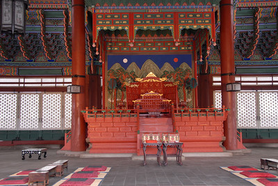 Gyeongbok Palace King's Throne