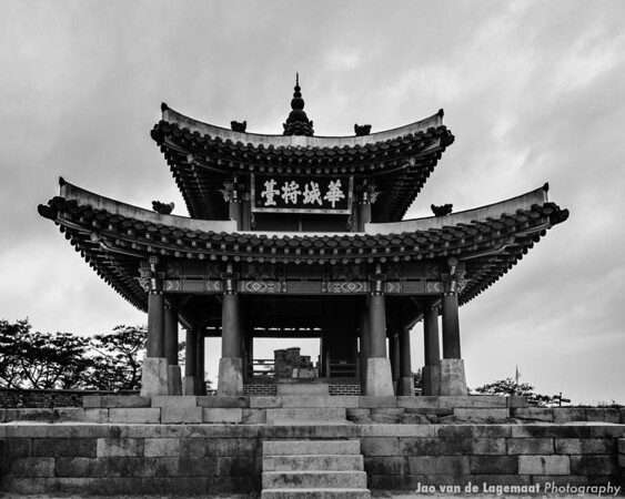 Gate . Read more: http://lagemaat.blogspot.com/2012/08/suwon-korea-during-typhoon.html