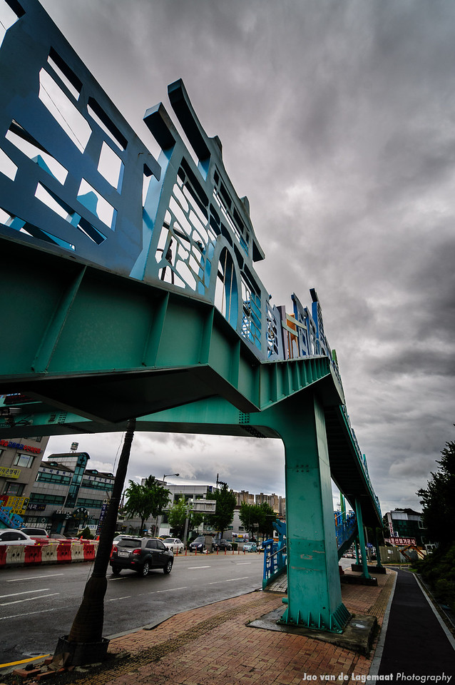 Bridge to somewhere . Read more: http://lagemaat.blogspot.com/2012/08/suwon-korea-during-typhoon.html
