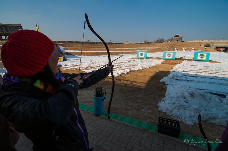 Archery at Yeonmudae, Hwaseng in Suwon