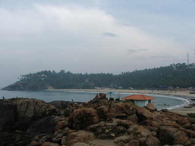 The Kovalam Beach bay