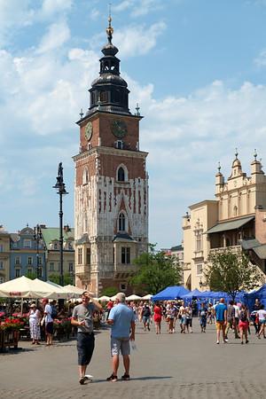 Krakow - 18 July 2015 - Main Square