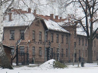 A cold, snowy February day is an appropriate time to visit Auchwitz.  It really makes you think about what was done there.