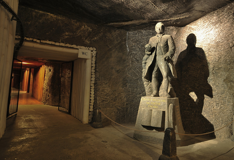 Salt mines in Kracow, Poland - Salt mine i Krakow, Polen<br /> Statue of Goethe