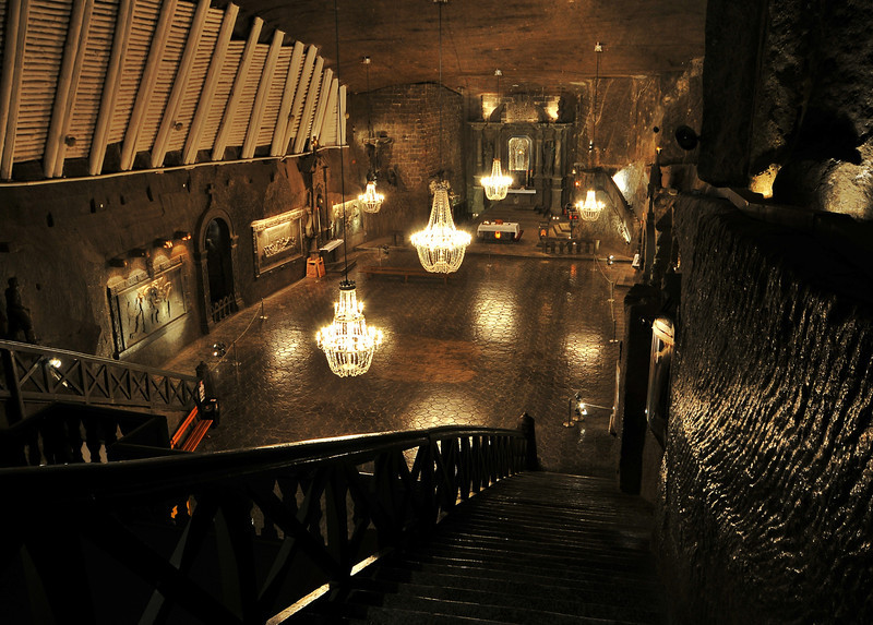 Salt mines in Kracow, Poland - Salt mine i Krakow, Polen