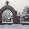 Krakow, Poland - snow - cemetery -