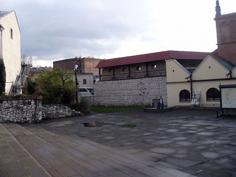The Altschul (Old Synagogue) and part of the old wall