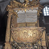 Corpus Christi church in Kazimierz precinct of Krakow, Poland, - pulpit in shape of boat, supported by mermaids