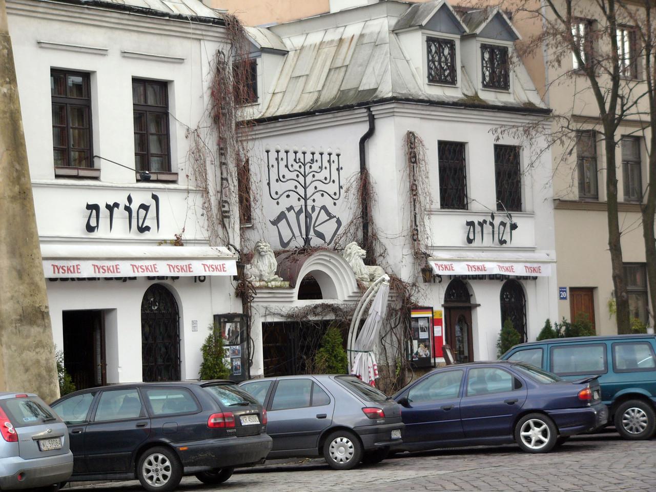 Jewish themed restaurant in historical Jewish area