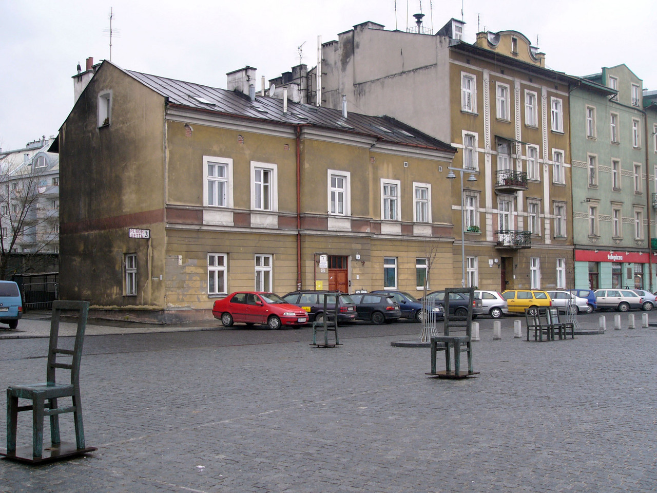 The edge of the Krakow ghetto, where Jews were relocated from the Jewish quarter