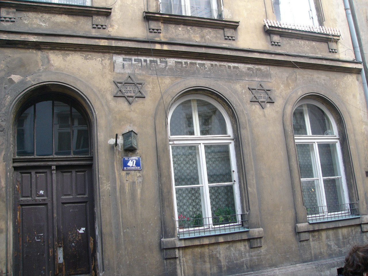 No longer in Jewish hands, this apartment building on Josefa street retains its decorations