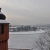view from Wawel Castle in Krakow, Poland, on the Vistula River