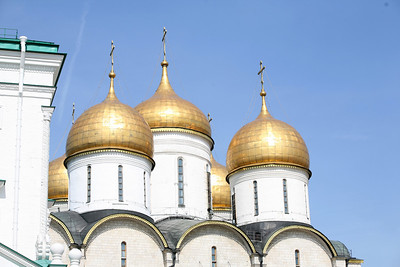 The Assumption Cathedral, Kremlin  Erected in 1475-1479 and it was the major church of the state in which all Russian Czars were crowned.