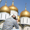 Focusing on the Assumption Cathedral, Kremlin