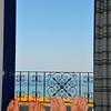 Utsikten frå rommet kl.08.30....