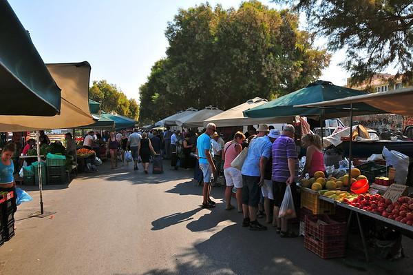 Marknad i Gamlebyen...