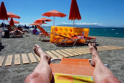 Avslapping på badestranda...Kreta 2013