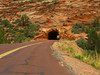 Tunnel through the mountain in Zion